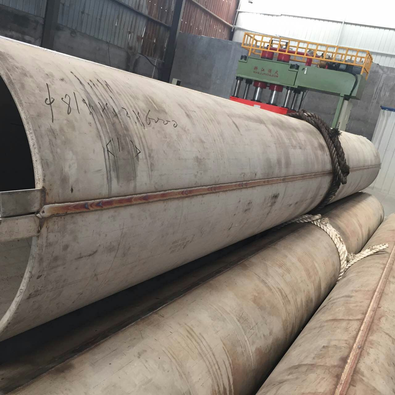 LSAW STAINLESS PIPE EFW BE 813*17.48mm Wall Thickness ASTMA358 GR.TP304 CL5